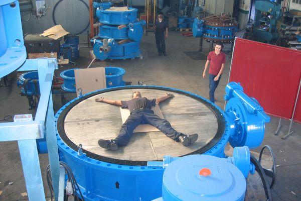 DN2600 PN10 Butterfly valve